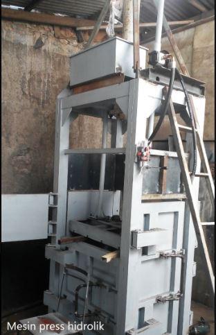 Pembuatan mesin press hidrolik 10 ton