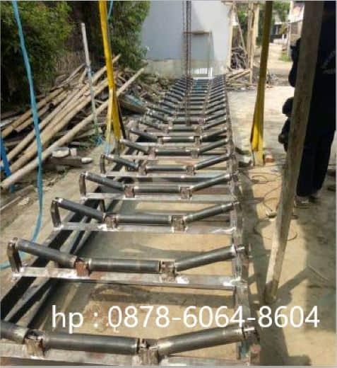 Rangka mesin conveyor | Mesin conveyor untuk mengangkut batu bara tambang