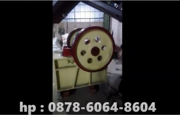 Cara kerja mesin pemecah batu