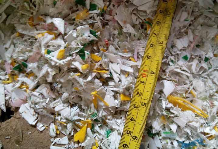Hasil cacahan plastik | Mesin cacah plastik type N-350