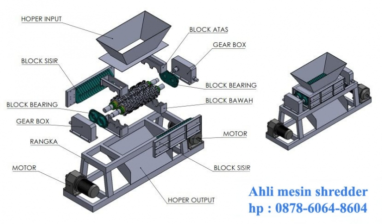 Desain mesin shredder