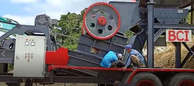 mesin pemecah batu jaw crusher