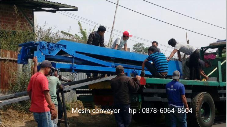 Mengirim mesin conveyor ke Jakarta