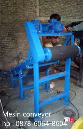 Pembuatan mesin conveyor mini