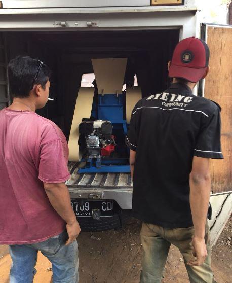 Pengiriman mesin penghancur plastik ke Bali