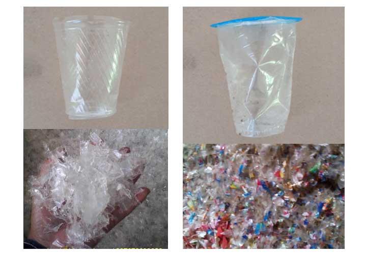 hasil cacahan plastik