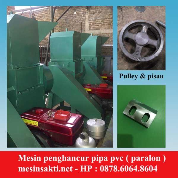 Mesin penghancur pipa pvc / paralon