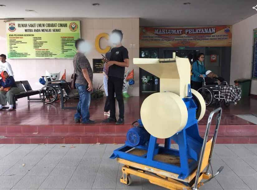 mesin penghancur kertas RS Cibabat