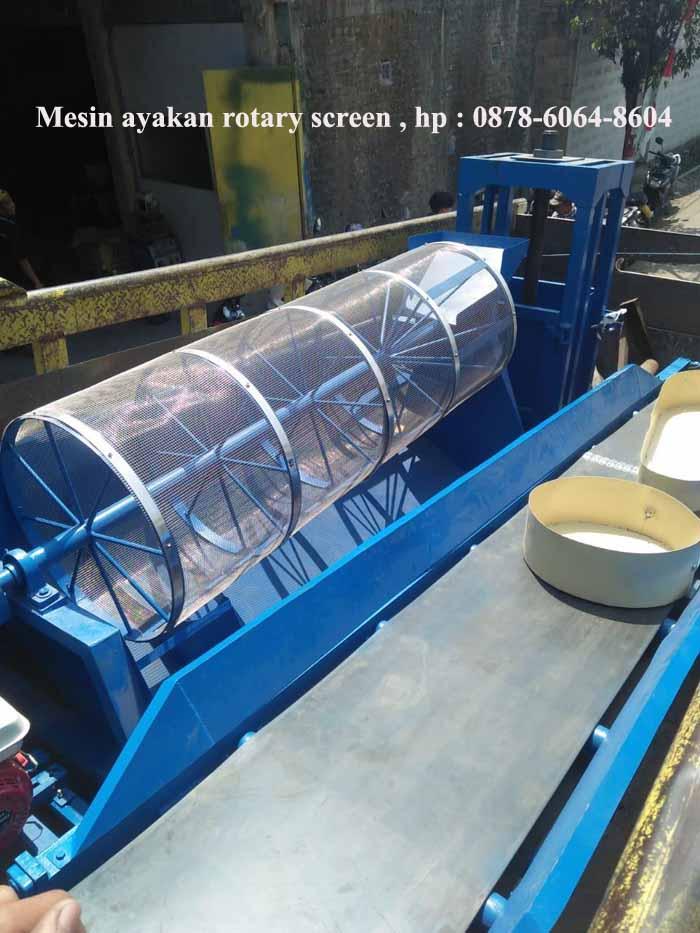 Mesin pengayak pasir tambang sistem rotary screen